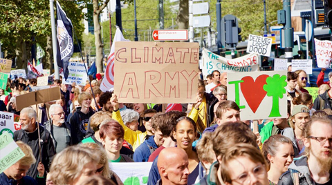 Rotterdam Limanı'nda İklim Protestosu