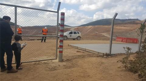 Kaz Dağları'nda Maden Sahası Girişine Beton Döküldü