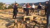 Temel Kazısında Roma Dönemine Ait Mezar Taşı Bulundu