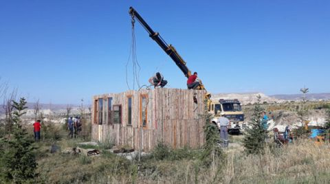 Kapadokya'da 152 Kaçak Yapı Yıkıldı