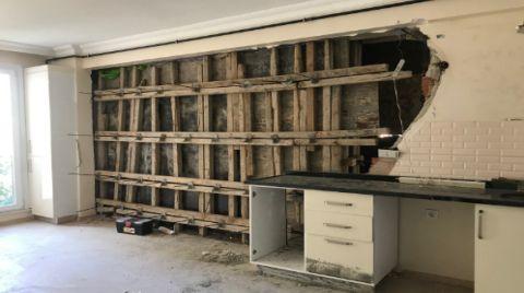 Yandaki İnşaattan Salona Beton Doldu