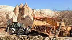 Kapadokya'da 157 Kaçak Yapı Yıkıldı