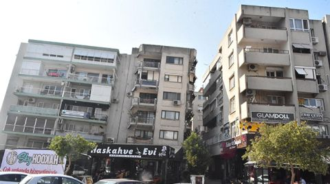 İzmir'de Yatık Duran Binalar için Tahliye Tebligatı