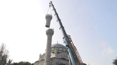 Ahmet Tükenmez Camii'nin İkinci Minaresi de Sökülüyor
