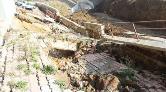 Samsun'da İstinat Duvarı Çöktü, 6 Katlı Bina Tahliye Edildi