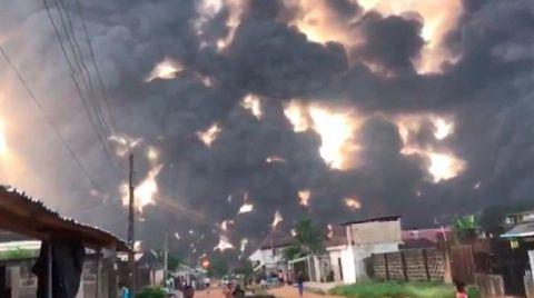 Nijerya'da Petrol Boru Hattında Büyük Patlama