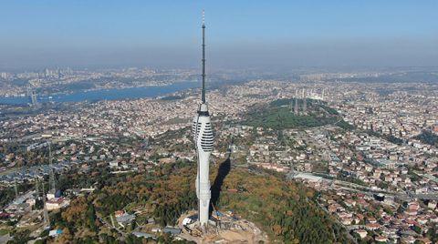Çamlıca Televizyon Kulesinin Kaplama İşlemleri Tamamlandı