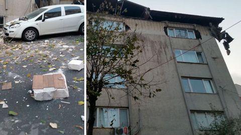 Şişli'de Binanın Çatısı Çöktü