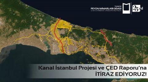 Peyzaj Mimarları Odası Kanal İstanbul'a İtiraz Ediyor