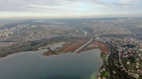 Kanal İstanbul Güzergahı Havadan Görüntülendi