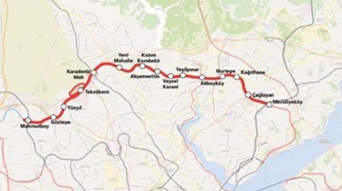 Mecidiyeköy-Mahmutbey Metrosu 19 Mayıs'ta Açılacak