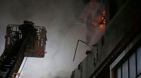 Bahçelievler'de Tekstil Firmasında Yangın Çıktı