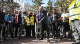 """Başkentte """"Bisiklet Yolu Projesi"""" için İlk Kazma Vuruldu"""