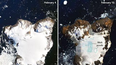 Buzul Erimesinin Yarattığı Etki Uzaydan Görüntülendi