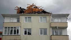 Fırtına, Tekirdağ'da Çatı Uçurdu