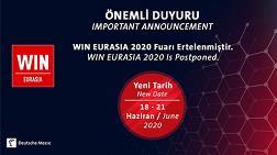 WIN Eurasia Fuarı Ertelendi