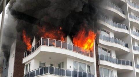 Giresun'da 10 Katlı Apartmanda Yangın