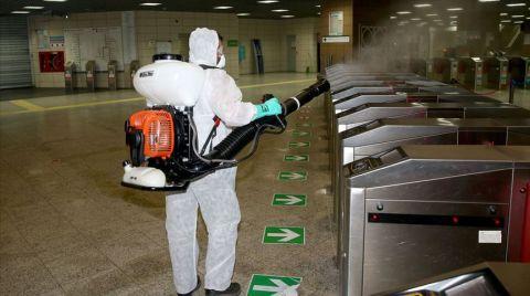 Marmaray İstasyonlarında Dezenfekte Çalışmaları Sıklaştırıldı