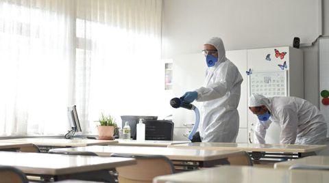 Okullarda Koronavirüse Karşı Hijyen Uygulaması Başladı