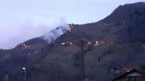 Trabzon'da 2 Ayrı Noktada Orman Yangını