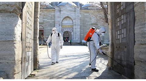 Selimiye Camisi'nde Koronavirüsü Önlemi