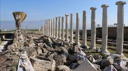 Laodikya'da 1750 Yıllık Freskli Travertenler Ayağa Kaldırıldı