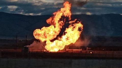 Ağrı'da Doğal Gaz Boru Hattında Patlama
