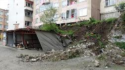 Trabzon'da İstinat Duvarı Çöken Apartmanda Yaşayanlar Tedirgin