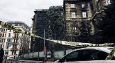 Beyoğlu'nda Rüzgar Nedeniyle İnşaat İskelesi Çöktü