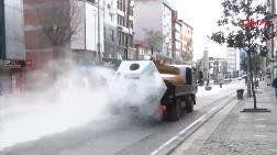 Mikronsis Aracı Sokaklarda Dezenfekte Çalışmalarına Başladı