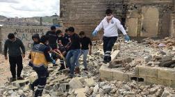 Şanlıurfa'da Metruk Ev Çöktü