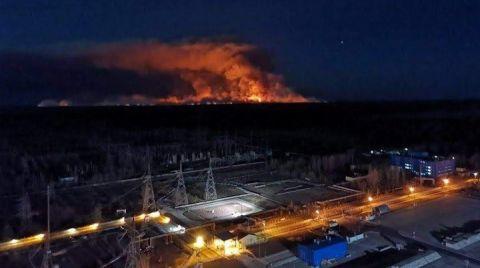 Çernobil'de Yangın Yeniden Başladı