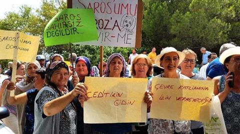Saros'ta İDK Toplantısına Tepki