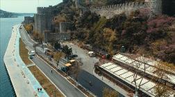 İstanbul'da Yol ve Meydanlar Boşken Onarıldı