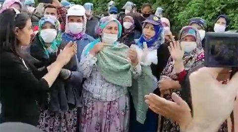 Direnen Köylüler Atık Havuzu Çalışmalarını Durdurdu
