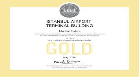 """İstanbul Havalimanı Terminali'ne """"LEED Altın"""" Sertifikası"""