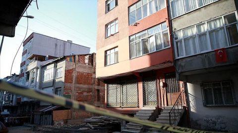 Küçükçekmece'de Yıkılma Riski Bulunan Bina Boşaltıldı