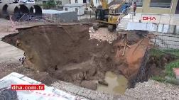 Bilecik'te Altyapı Çalışması Sırasında Yol Çöktü