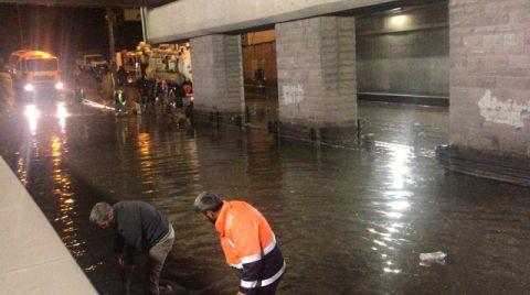 Ankara'daki Sağanakta 250 Ev ve İş Yerini Su Bastı