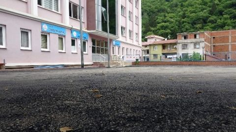 Okul Bahçelerine Dökülen Asfalt Riskli
