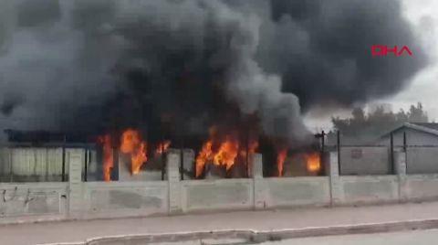 Esenyurt'ta Şantiyede Yangın