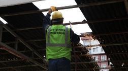 Rize'de Dere Yatağındaki Binaların Yıkımına Başlandı
