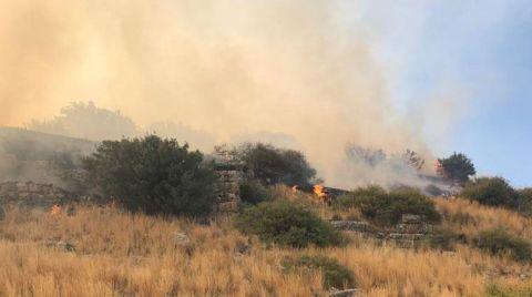 Priene Antik Kenti'nde Yangın