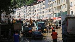 Giresun'daki Enkaz Kaldırma Çalışmaları Sürüyor