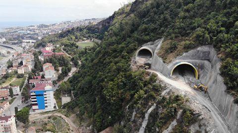 Boztepe Tüneli'nin Yapımı Sürüyor