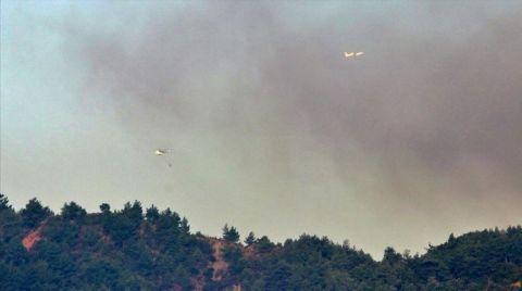 Hatay'daki Orman Yangını Devam Ediyor