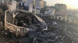 Ankara'da Estergon Kalesi'ndeki Restoran Yandı