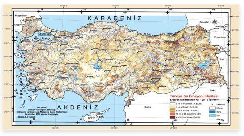 Türkiye'nin 'Su Erozyon Haritası' Güncellendi