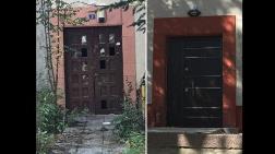 Saraçoğlu'nda Tarihi Kapıyı Kaldırıp Çelik Kapı Taktılar