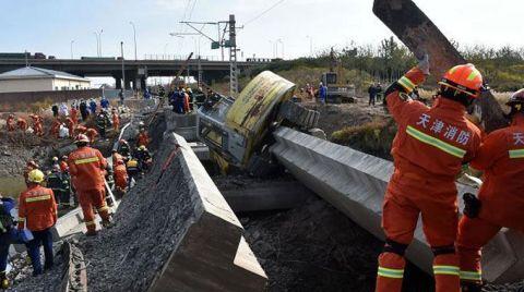 Çin'de Demiryolu Köprüsü Çöktü
